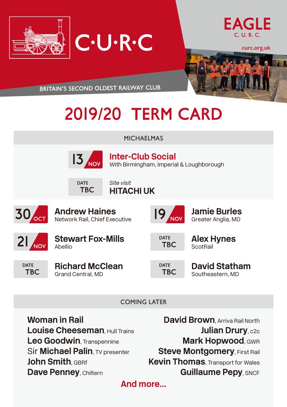 2019 Term Card